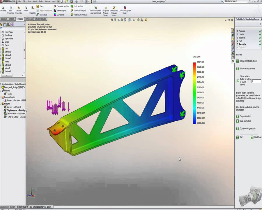 Exemple simulation solidworks